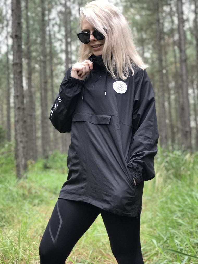 Black Waterproof Windbreaker Jacket - Unisex