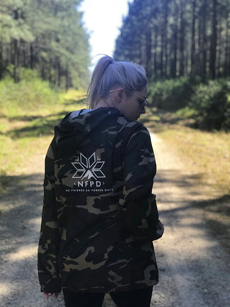 Camo Water Resistant Windbreaker Jacket - Unisex