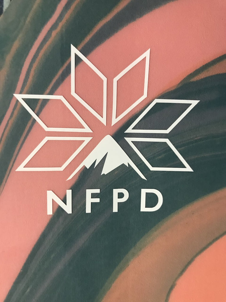 Vinyl Transfer White NFPD Decals 85mm X 77mm