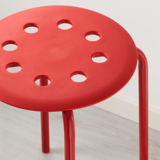 Plastic Stool Rental (Red Only)