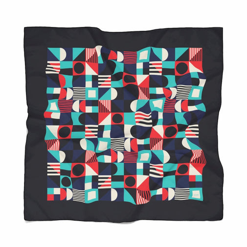 Poly Geometric Scarf Blue