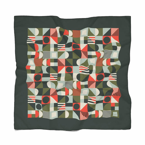 Geometric Pattern Scarf / Green