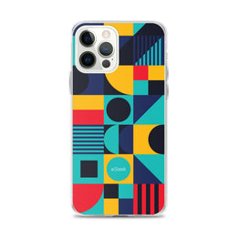 iPhone Case Geometric Blue