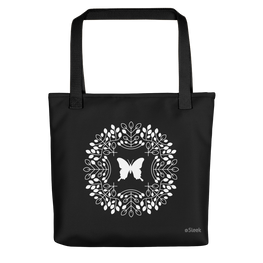 Butterfly Tote Bag Black