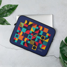 Laptop Sleeve Geometric Blue