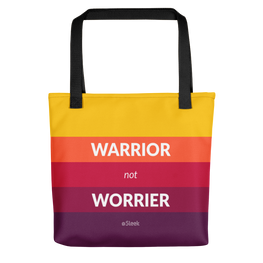 Tote Bag Warrior Not Worrier