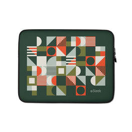 Laptop Sleeve Geometric Green