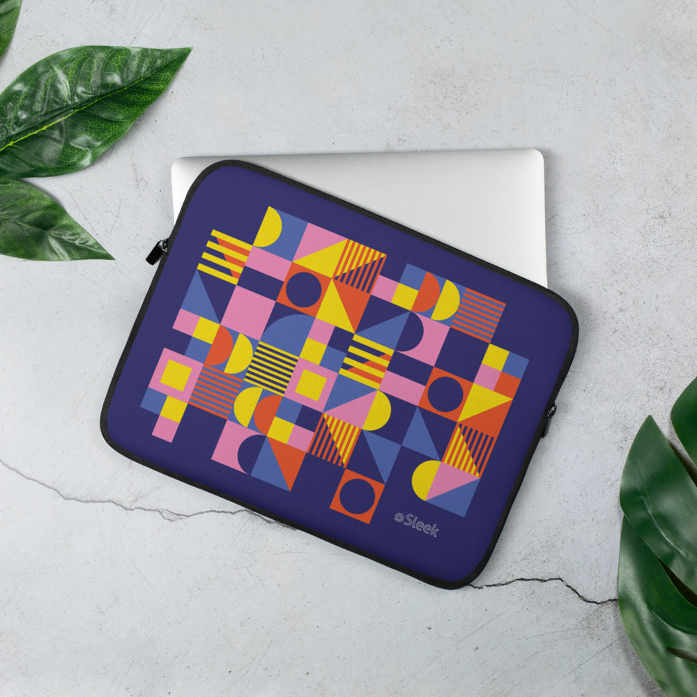 Laptop Sleeve Geometric Pink