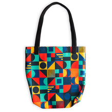 Tote Bag Geometric Blue