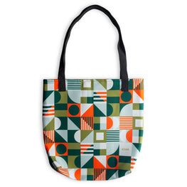 Tote Bag Geometric Green