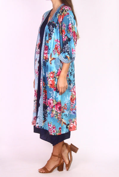Jantzen Floral Print Summer Maxi Throw Over