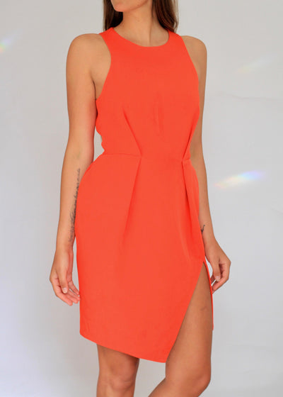 Dion Lee high-neck structured cocktail dress