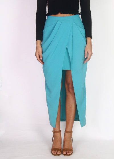 NEW NG the Label High-Rise Wrap Midi Skirt 'sample'