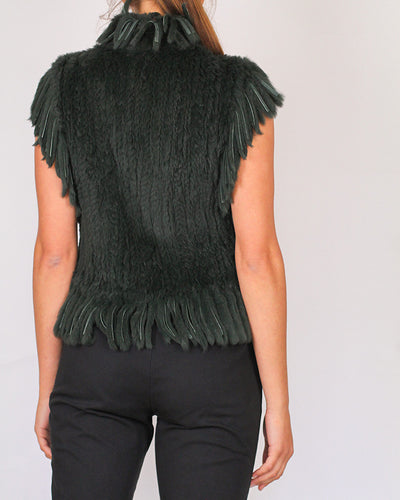 Arthur Galan Genuine Rabbit-Fur Vest