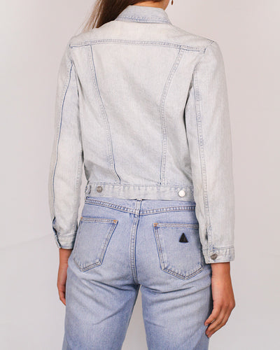 Wrangler Cropped Washed Denim Jacket