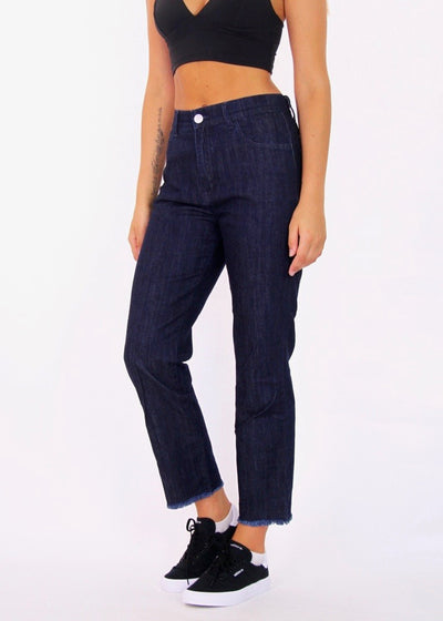 Vale High-Rise 100% Cotton Straight Leg Jeans