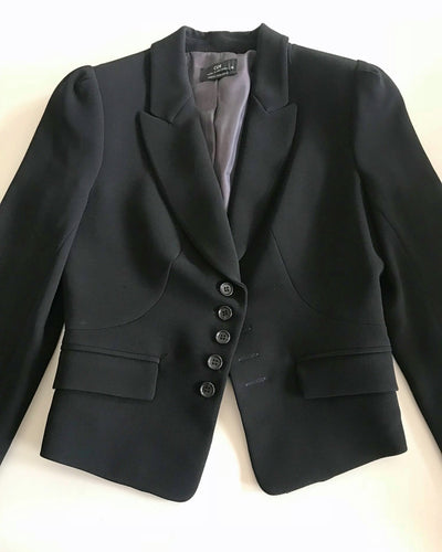 Cue Black Tailored Blazer Jacket