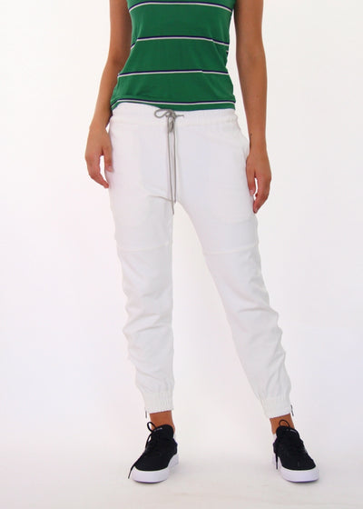 Bassike High-Low Rise Elastic Cropped Pants