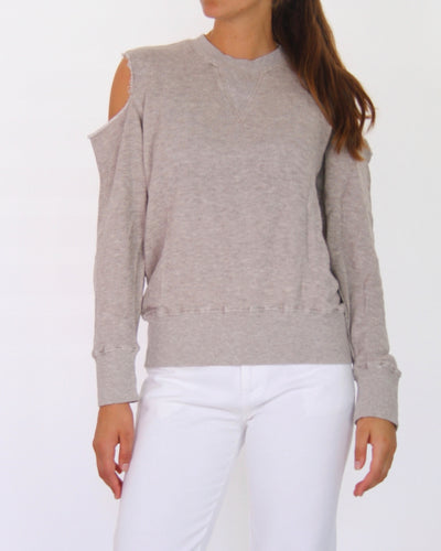 Bassike Crew-Neck Cold Shoulder Jumper