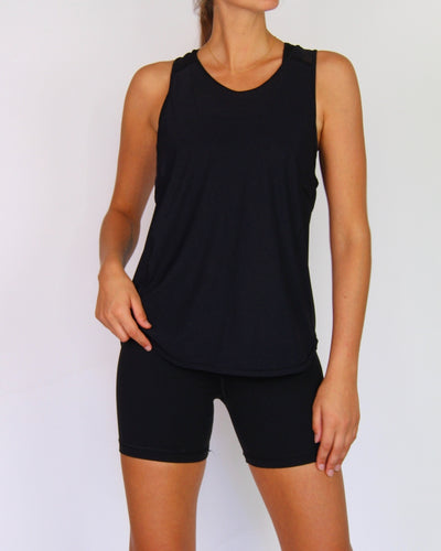 Lululemon Black Mesh Sleeveless Active Tank