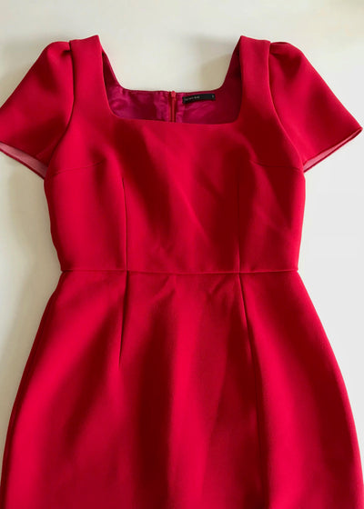 Yeojin Bae red structured cocktail mini dress