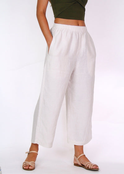 Assembly Label Basic Wide Leg Crop Pant