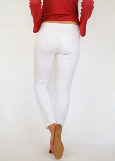 AG Jeans Low-Rise White Skinny Jeans