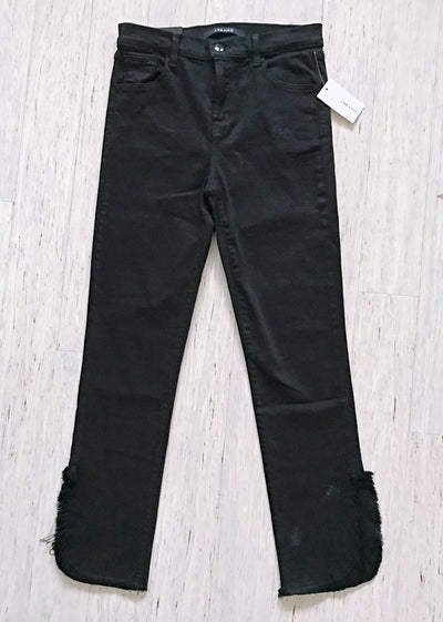 J Brand Black Fateful High-Rise Crop Cigarette Jeans