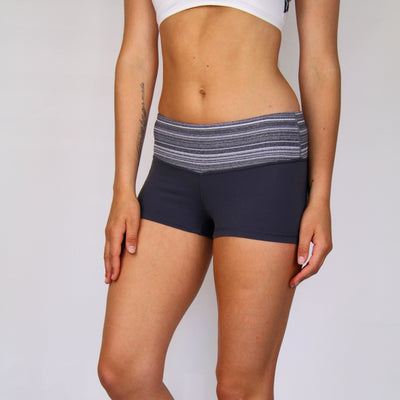 Lululemon Grey Fitted Active Hot Short