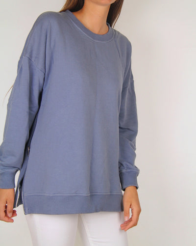 Rochambeau Crew-Neck Sweater with Zips