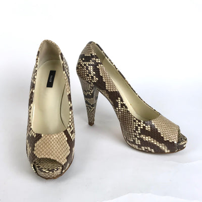 Genuine Bally EDDI 71 Pearl Python High Heels - US 8