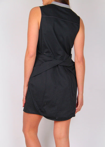 Ksubi 100% Cotton Zip-Front Mini Dress