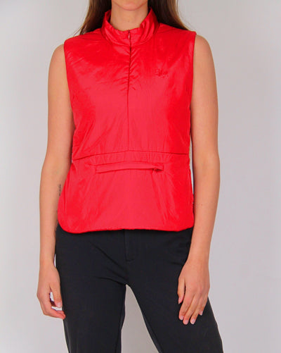 Vintage Stussy Red 1/2 Zip Sleeveless Vest