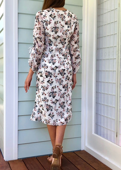 Talulah Embroidered Floral Summer Midi Dress