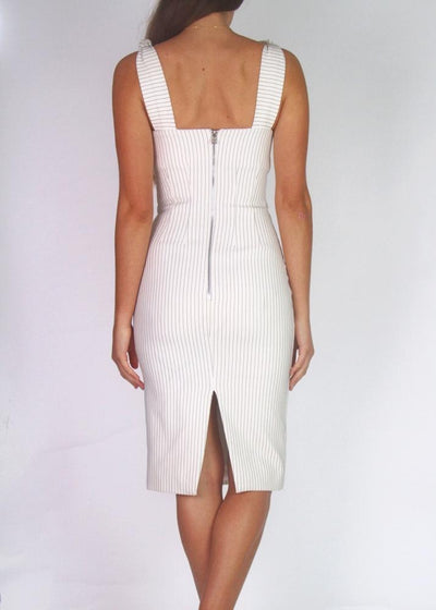 By Johnny Square-Neck Cocktail Midi Dress