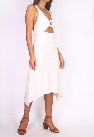 Bec & Bridge Midi Cocktail Dress w/ Cut-Outs