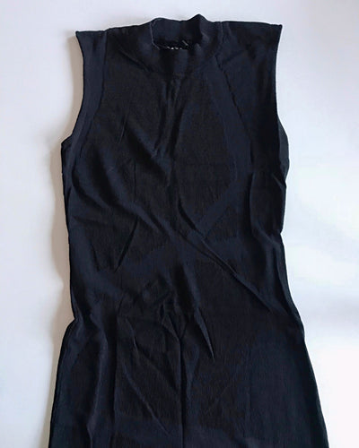 Ksubi Black High Neck Body-Con Party Dress