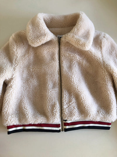 Twin Teddy Bear Jacket with Elastic Trim