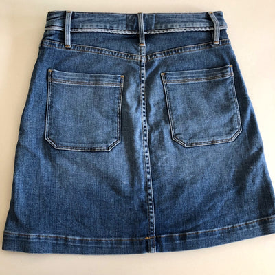 Frame High-Rise Blue Denim Mini Skirt