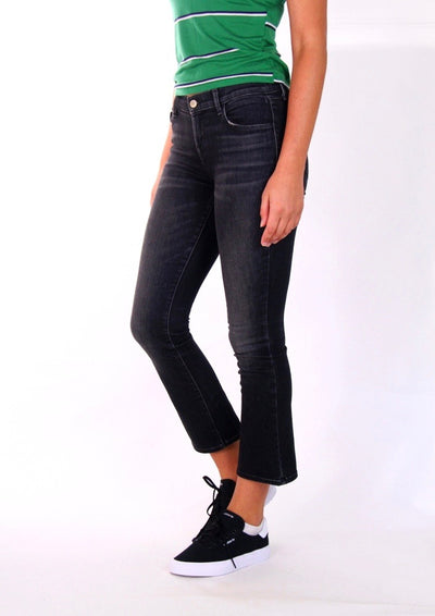 J Brand Selena Cropped Bootcut Jean in Anthracite