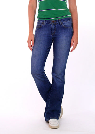 Mavi Low-Rise Slim Leg Flared Jeans