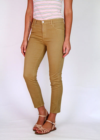 J Brand Ruby High-Rise Cropped Skinny Jean Finch