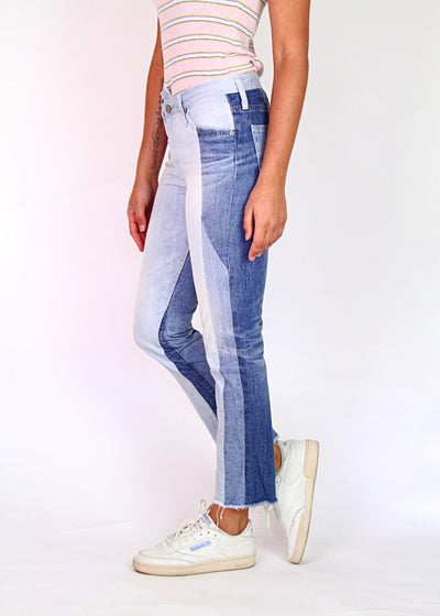 AG-ED 'The Isabelle' High-Rise Cropped Straight Leg Jean