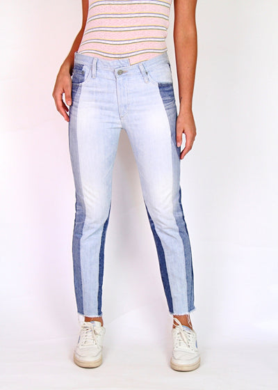 AG 'The Isabelle' High-Rise Cropped Straight Leg Jean