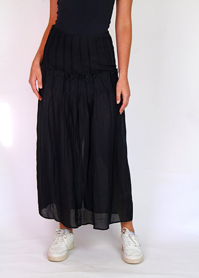 NEW Interval High-Rise Pleated Maxi Skirt