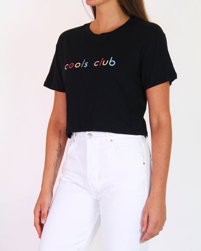 NEW Cools Club Black Short-Sleeve Baby Tee