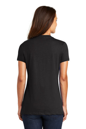 District Ladies V Neck Tee - Your DBA Logo