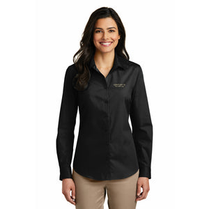 DBA Ladies Long Sleeve Carefree Poplin Shirt - Century 21 Promo Shop USA