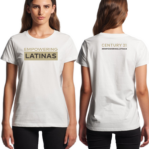 EMPOWERING LATINAS Tee, Ladies - CLOSE OUT - Century 21 Promo Shop USA