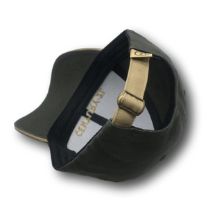 Black Corporate Cap with Gold Sandwich Trim